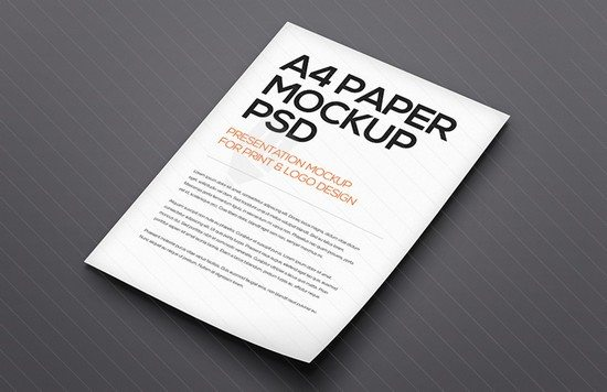 Floating A4 Paper Mockup Template