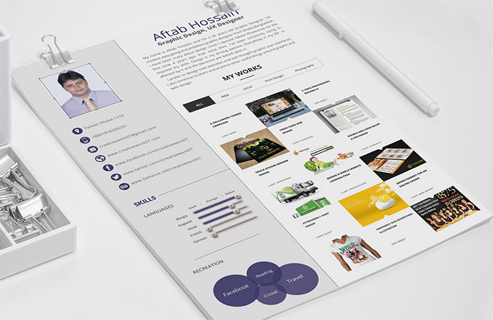 Free 2 page Indesign Resume Templates