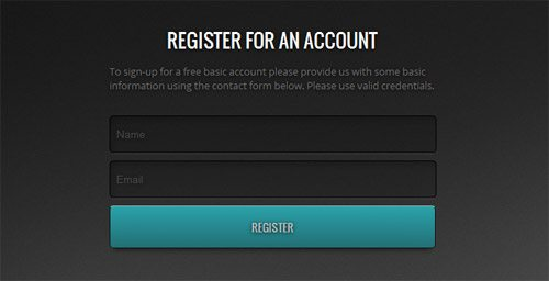 Free ACCOUNT REGISTRATION FORM