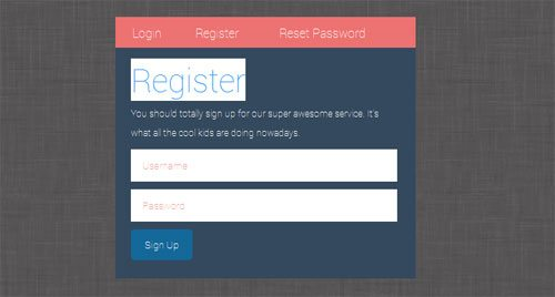 Free CSS Login Register Form