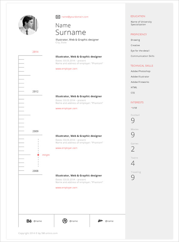 Free CV Indesign Resume Templates