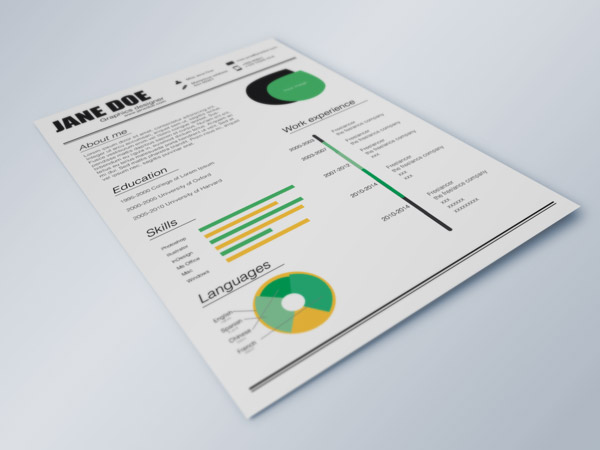 Fresh Resume Indesign Resume Templates