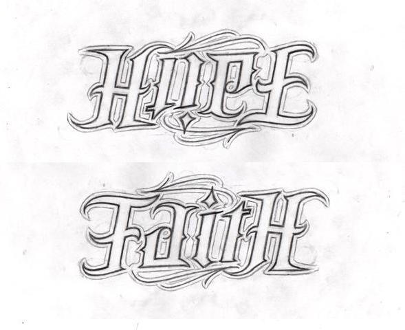 Hope_Faith ambigram examples
