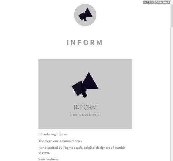Inform tumblr theme