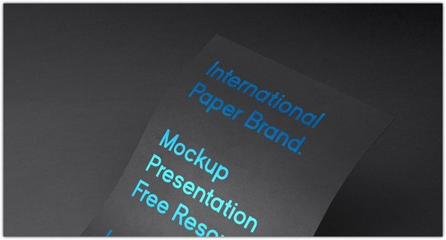 International Paper PSD Mockup