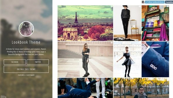 Lookbook tumblr theme
