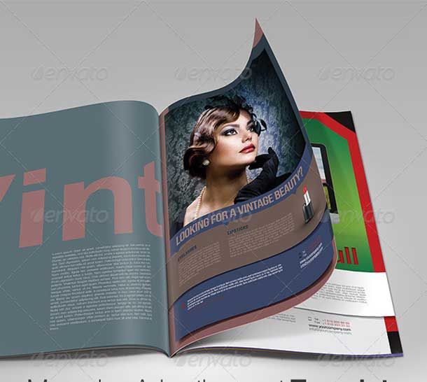 Magazine Advertisement Template free download