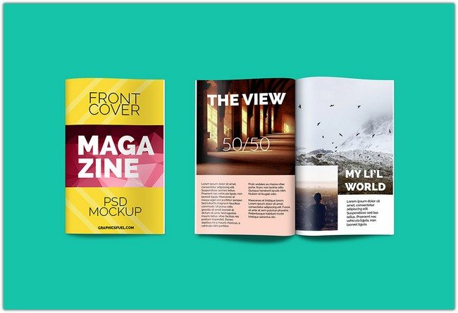 Magazine PSD Mockup free download