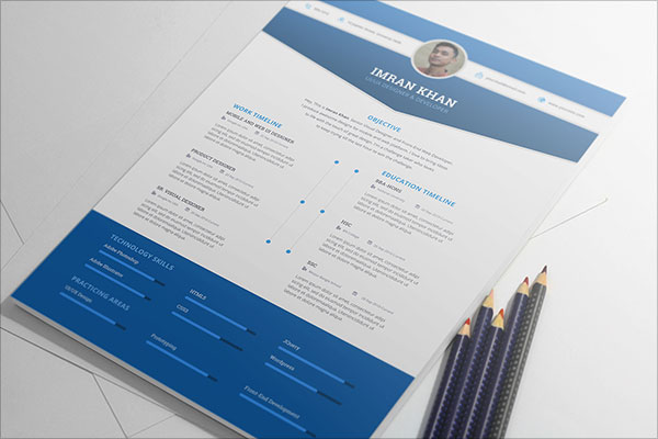 PSD Indesign Resume Templates
