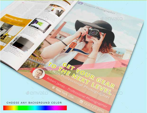 Photography Magazine Advertisement Mockup