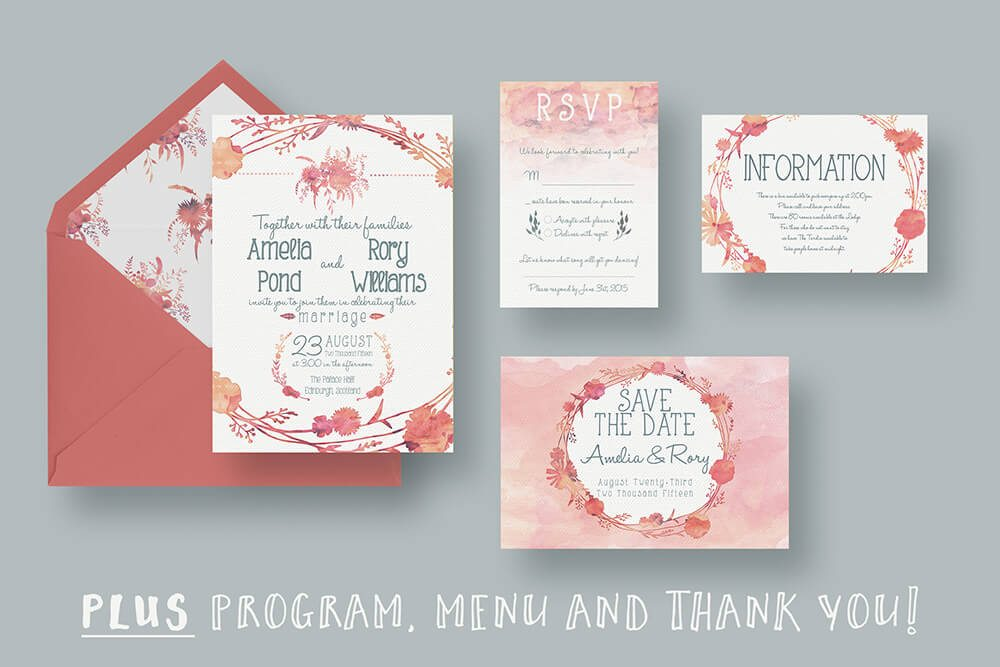 Pink Wedding Invitations Examples