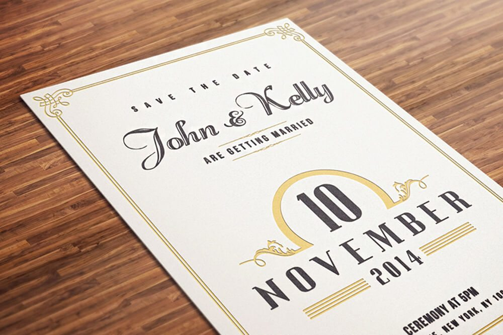 Printed Wedding Invitations Examples Ideas