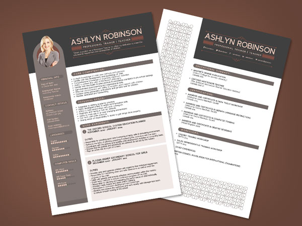 Professional Indesign Resume Templates