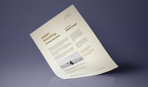 Psd A4 Paper Mock Up Design Template