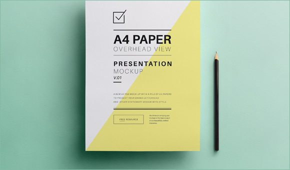 Psd A4 Paper Mock Up Template