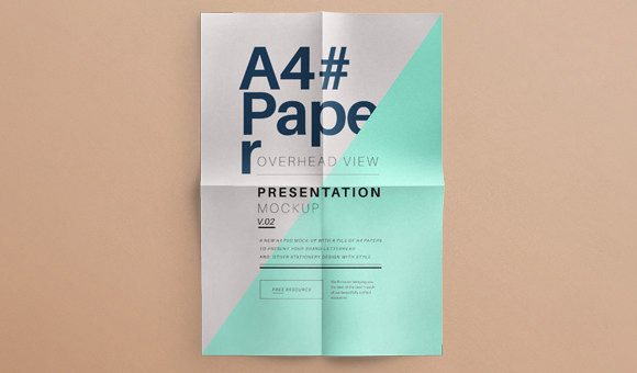 Psd A4 Paper Mock Up Vol2 Template