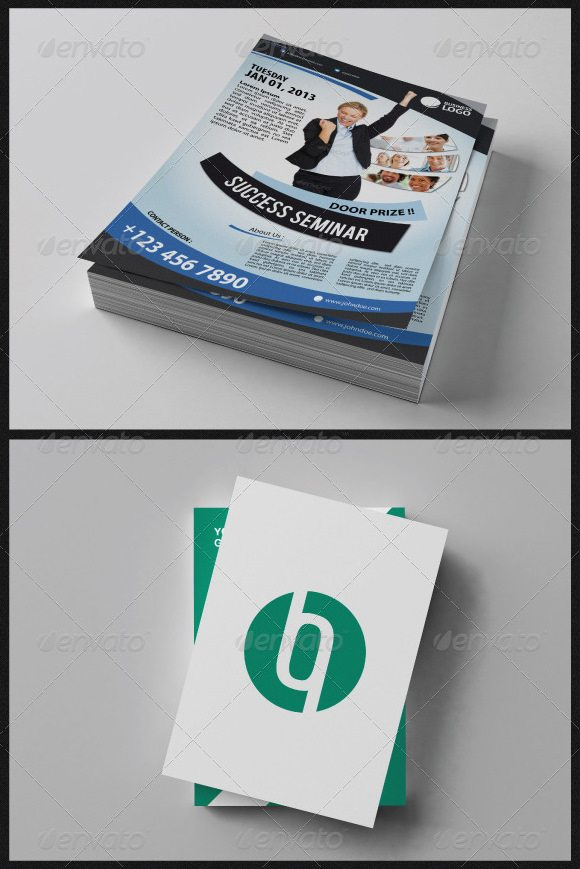 Realistic A4 Paper Mock Up Templates