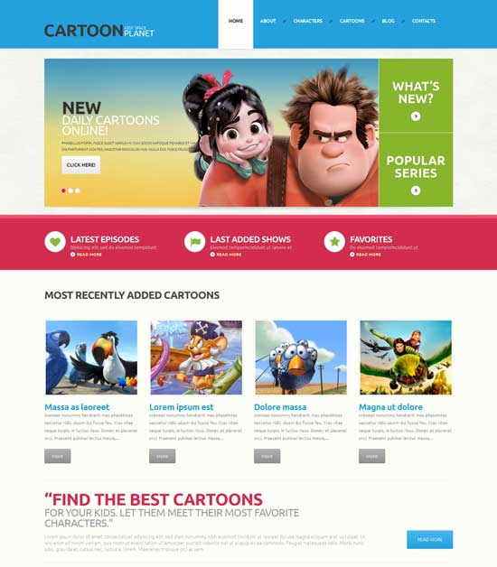 Responsive WordPress Theme for Movies Database