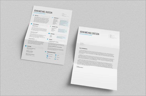 Resume Cover Letter Indesign Resume Templates