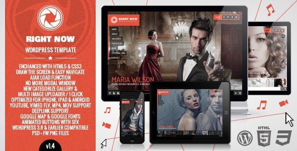 Right Now Video WordPress Theme