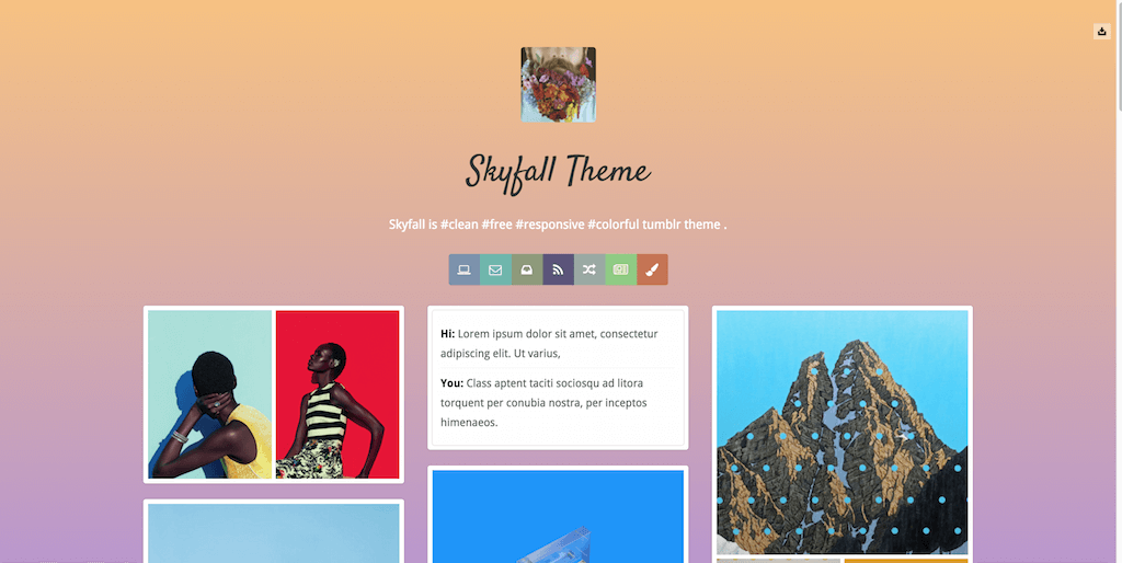 Skyfall free Tumblr Themes download