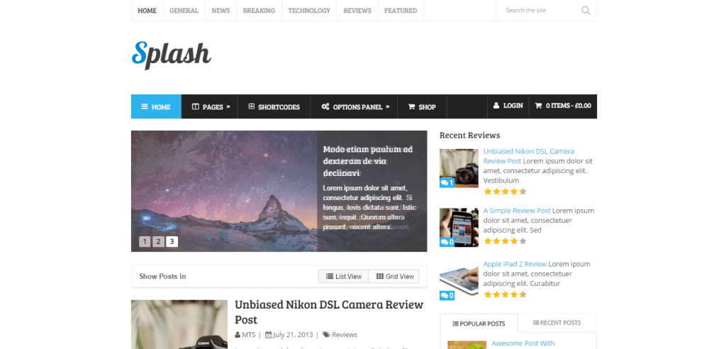 Splash Affiliate Marketing WP Themes