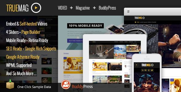 True Mag Video WordPress Theme