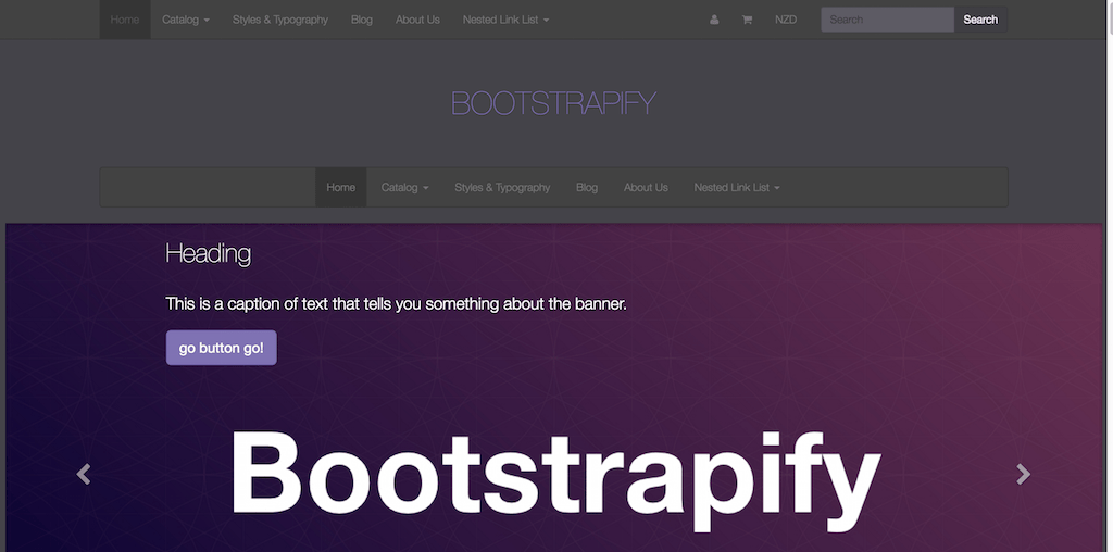 Twitter Bootstrap based Shopify theme