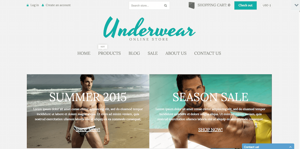 Underwear Store Shopify Theme 53169