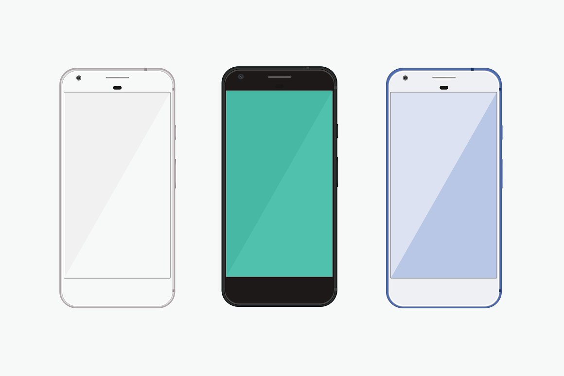 Unique Google Pixel Phone Mockup