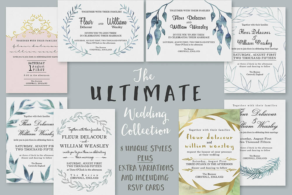 Unique Wedding Invitations Examples Ideas