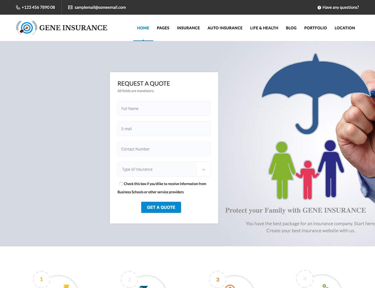 VEDA Insurance WordPress Theme