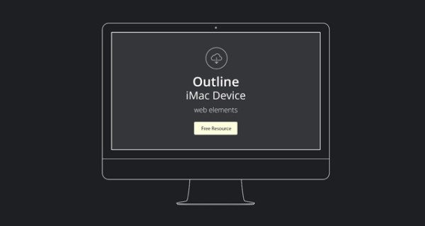 Vector Apple Outline Device PSD free download