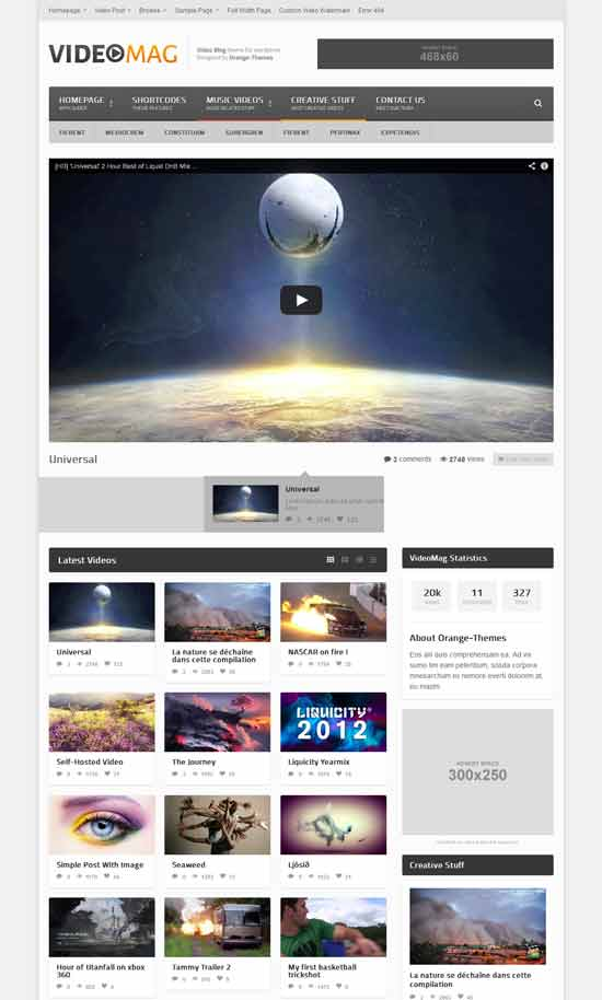 VideoMag Powerful Video WordPress Theme