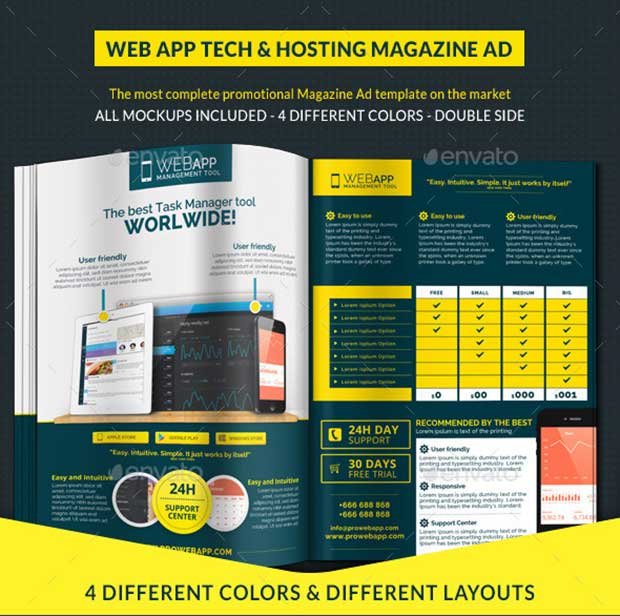 Web App Tech Magazine Ad