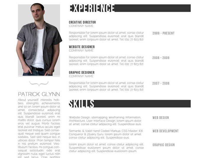 85  free  cv  indesign resume templates in ai  html  u0026 psd formats