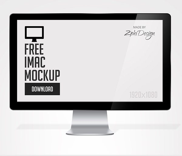 apple imac PSD Mockup download