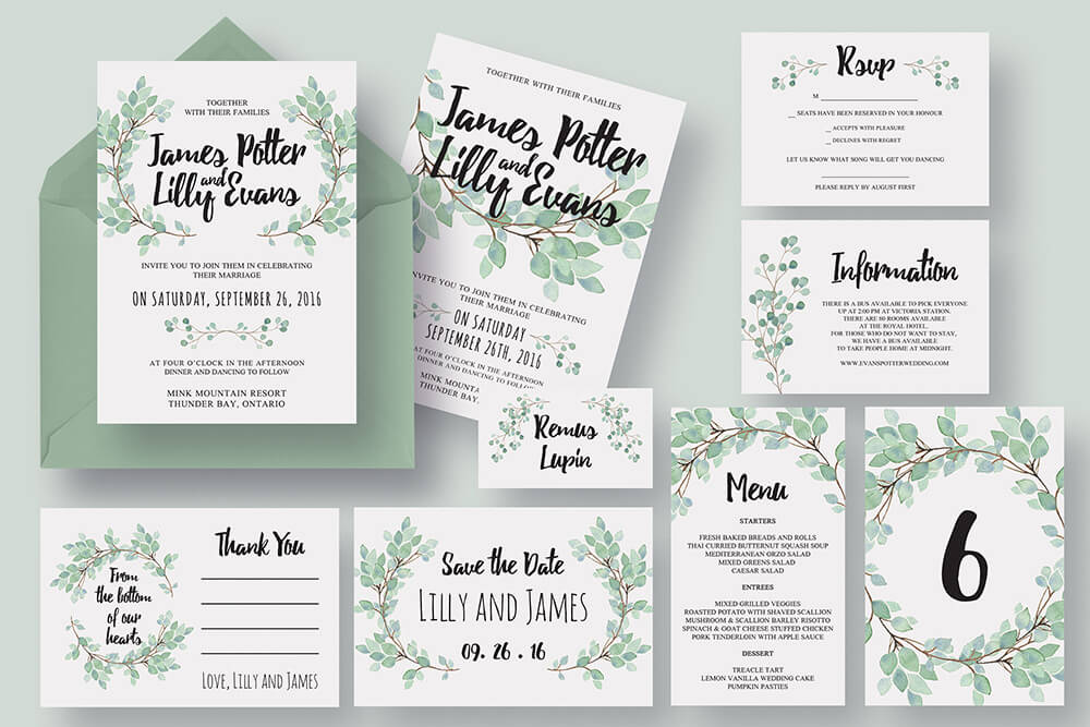 beautiful Wedding Invitations cards