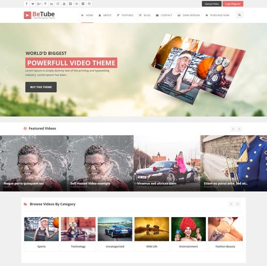 betube Video WordPress Theme
