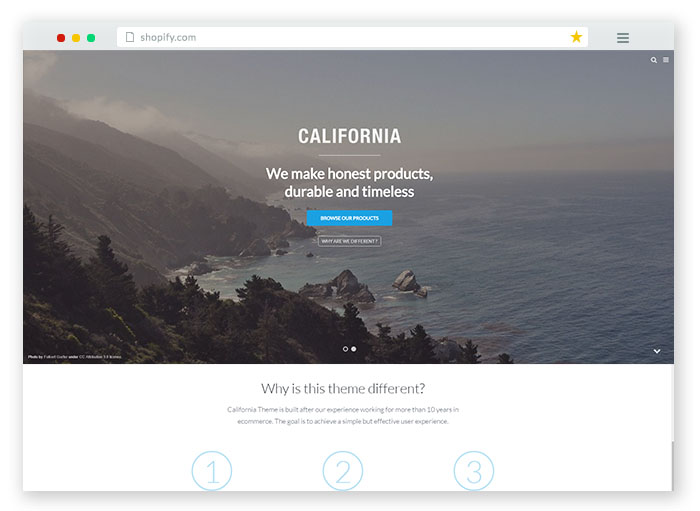 california brand Responsive Shopify Theme