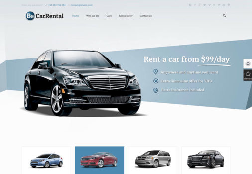 car rental Affiliate Marketing WP Themes