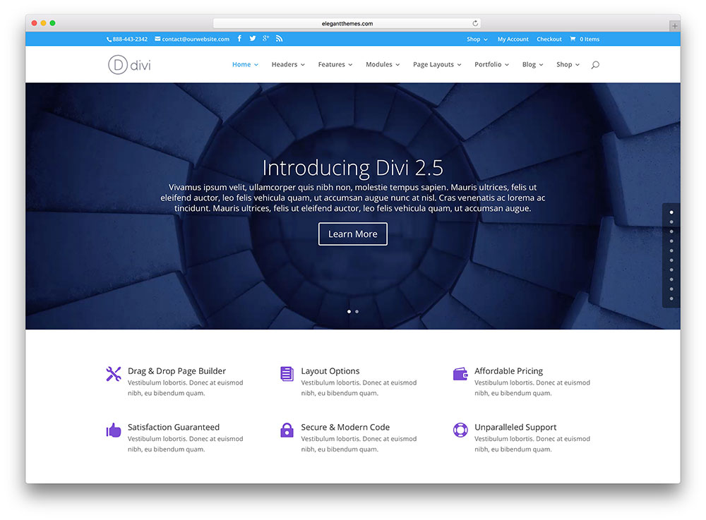 divi Insurance WordPress Theme