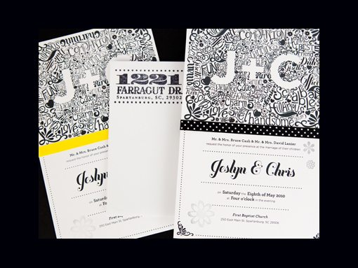 doodled Wedding Invitations Examples