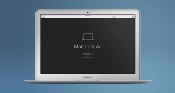 download MacBook Air Psd Mockup