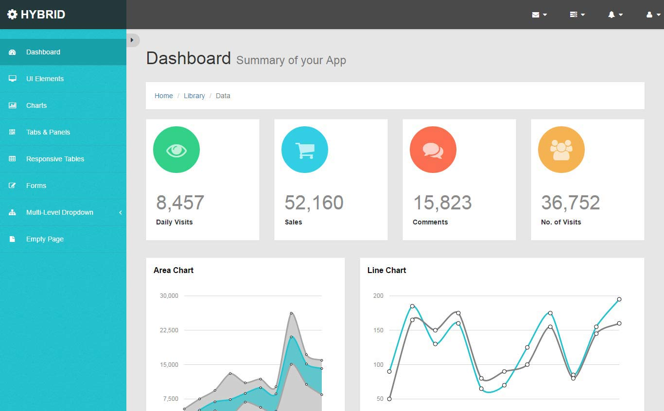 bootstrap dashboard template