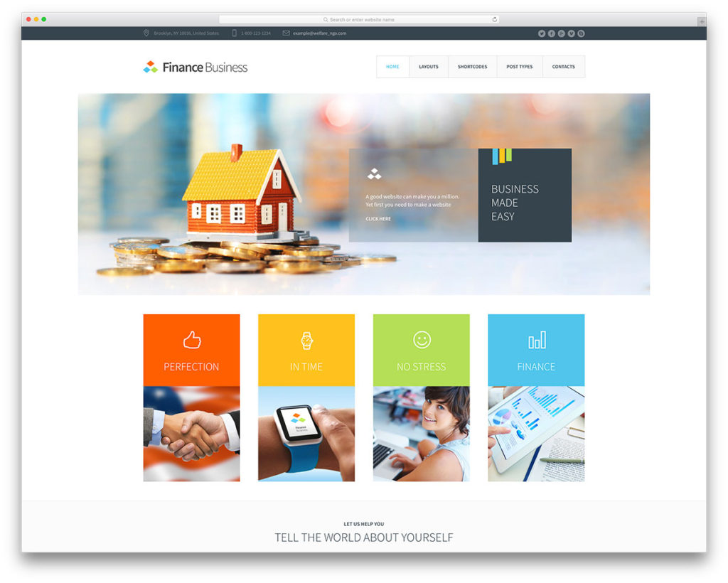 finance busines Insurance WordPress Theme