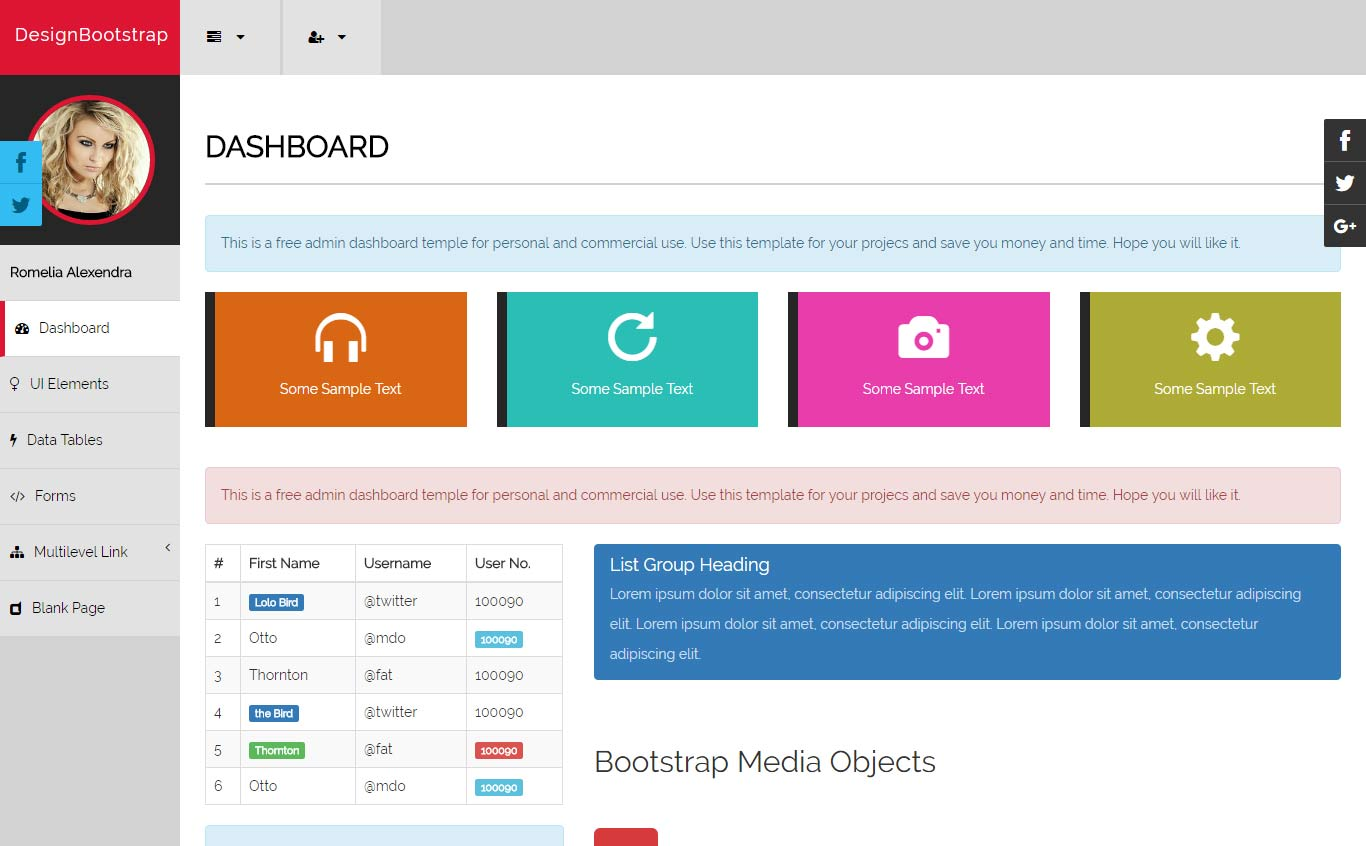 70 best free responsive html5 bootstrap admin dashboard for How to use bootstrap templates