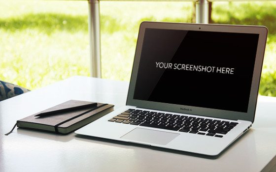 free MacBook PSD Mockup download
