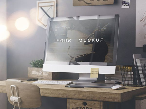 freeiMac PSD Mockup download