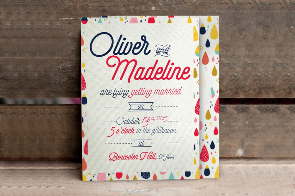 fun pattern wedding invitation examples